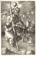 ALBRECHT DÜRER | SAINT CHRISTOPHER FACING RIGHT (B., M., HOLL. 52)