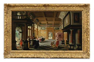 View 2. Thumbnail of Lot 25. Interior of a Palace with Ladies and Gentlemen.