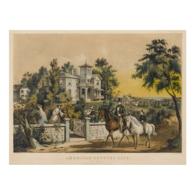 View 1. Thumbnail of Lot 1763. CURRIER & IVES (PUBLISHERS)   AMERICAN COUNTRY LIFE. MAY MORNING.