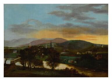 AMERICAN SCHOOL, 19TH CENTURY | VIEW OF THE VALLEY NEAR THE DELAWARE WATER GAP FROM NEW JERSEY