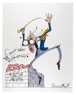"SCARFE | Pink Floyd's ""The Wall"" - Teacher (""We don't need no education""), original drawing"