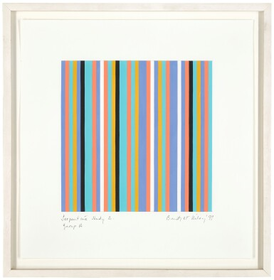 View 2. Thumbnail of Lot 653. BRIDGET RILEY | SERPENTINE STUDY 2, GROUP A.