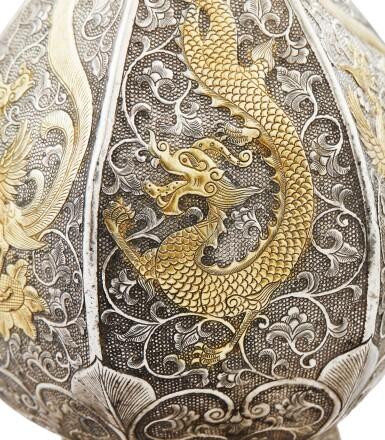 View 2. Thumbnail of Lot 49. A PARCEL-GILT SILVER EWER, CHINA, 19TH CENTURY |  VERSEUSE EN ARGENT ET VERMEIL, CHINE, XIXE SIÈCLE .
