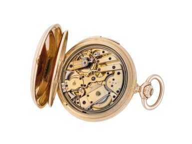 View 3. Thumbnail of Lot 80. H.R. EKEGREN | PINK GOLD HUNTING-CASED AND QUARTER-REPEATING WATCH CIRCA 1900 .