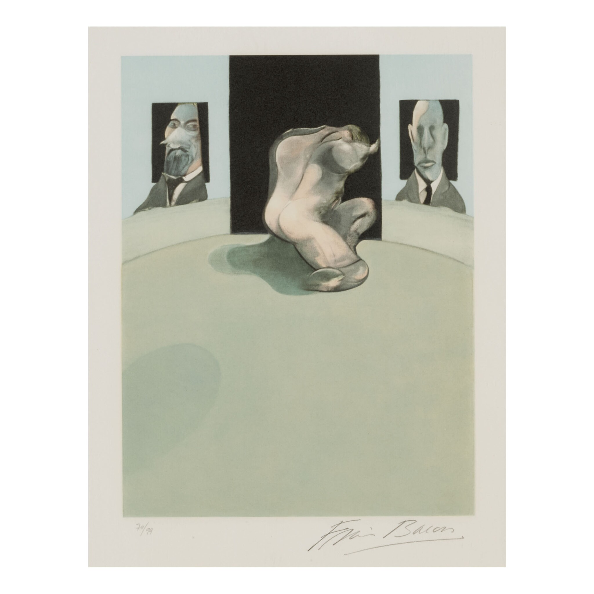 View full screen - View 1 of Lot 22. FRANCIS BACON | TRIPTYCH: CENTER PANEL (SEE SABATIER 4).