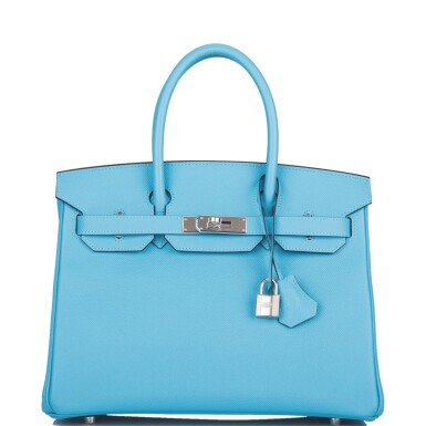View 1. Thumbnail of Lot 63. Hermès Bleu Du Nord Birkin 30cm of Epsom Leather with Palladium Hardware.