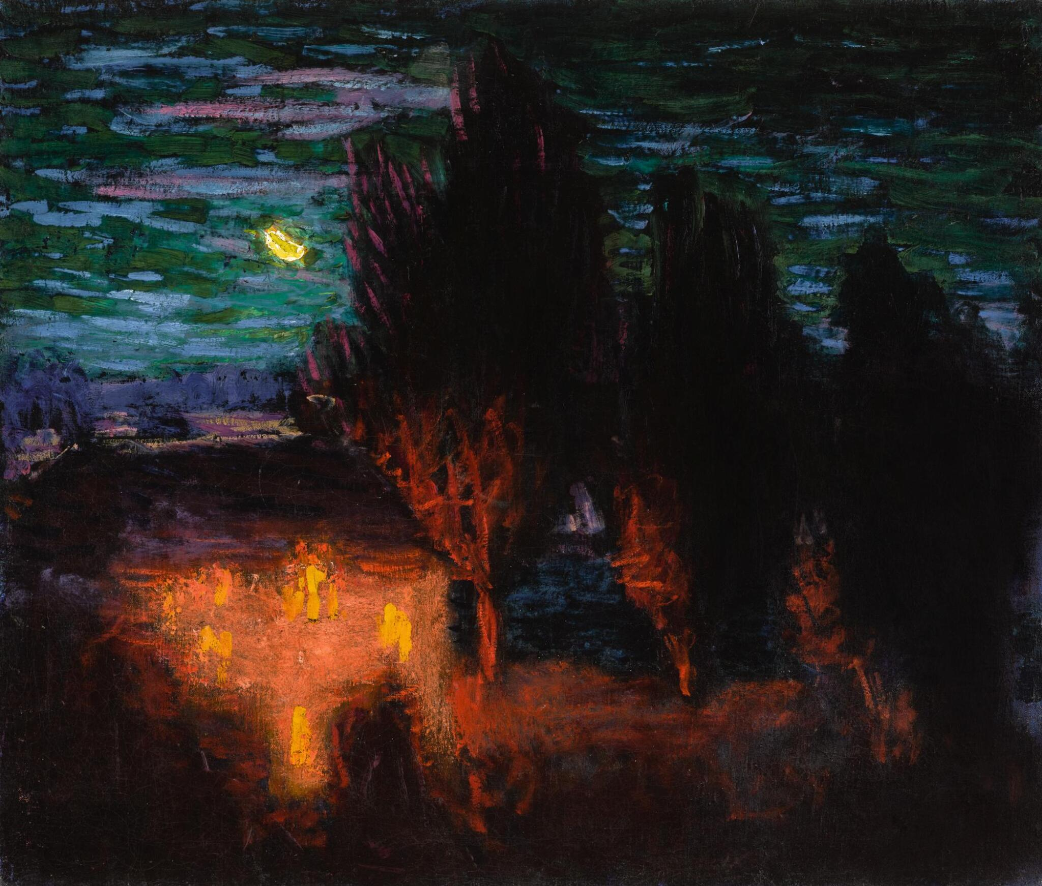 View full screen - View 1 of Lot 33. RODERIC O'CONOR | A MOONLIT BRETON LANDSCAPE .