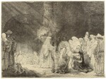 REMBRANDT HARMENSZ. VAN RIJN | THE PRESENTATION IN THE TEMPLE: OBLONG PLATE (B., HOLL. 49; NEW HOLL. 184; H. 162)