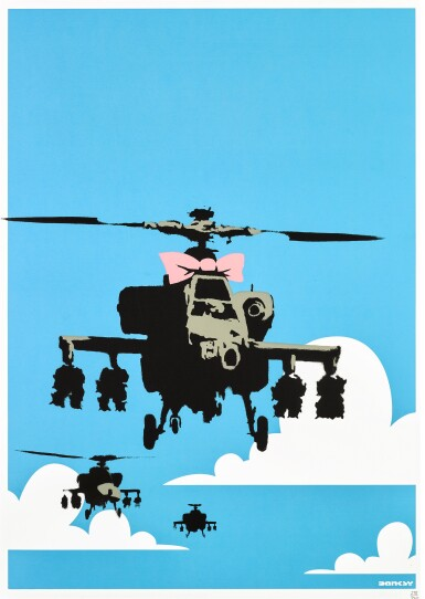 View 1. Thumbnail of Lot 3. BANKSY | HAPPY CHOPPERS.