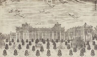 View 9. Thumbnail of Lot 362. A SET OF TWENTY PRINTS OF PALACES, PAVILIONS AND GARDENS AT YUANMING YUAN | 巴黎、1977年 《郎世寧圓明園西洋樓》 一組二十幅 水墨紙本.