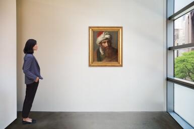 View 2. Thumbnail of Lot 109. PIERRE-NOLASQUE BERGERET  |  PORTRAIT OF A MAN IN A TURBAN, THREE-QUARTER PROFILE.