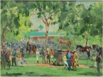 PETER WILLIAMS | VIEW OF THE PADDOCK, AT BELMONT PARK