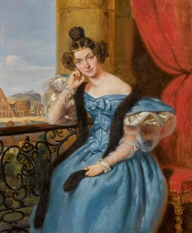 View 1. Thumbnail of Lot 10. JEAN-AUGUSTE BARD | Portrait of Ekaterina Nikolaevna Karamzina (Meshcherskaya).
