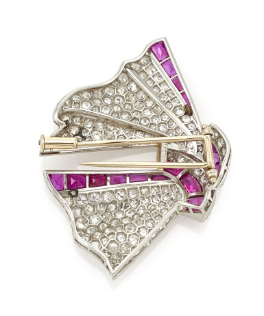 RUBY AND DIAMOND BROOCH (SPILLA IN DIAMANTI E RUBINI), PETOCHI