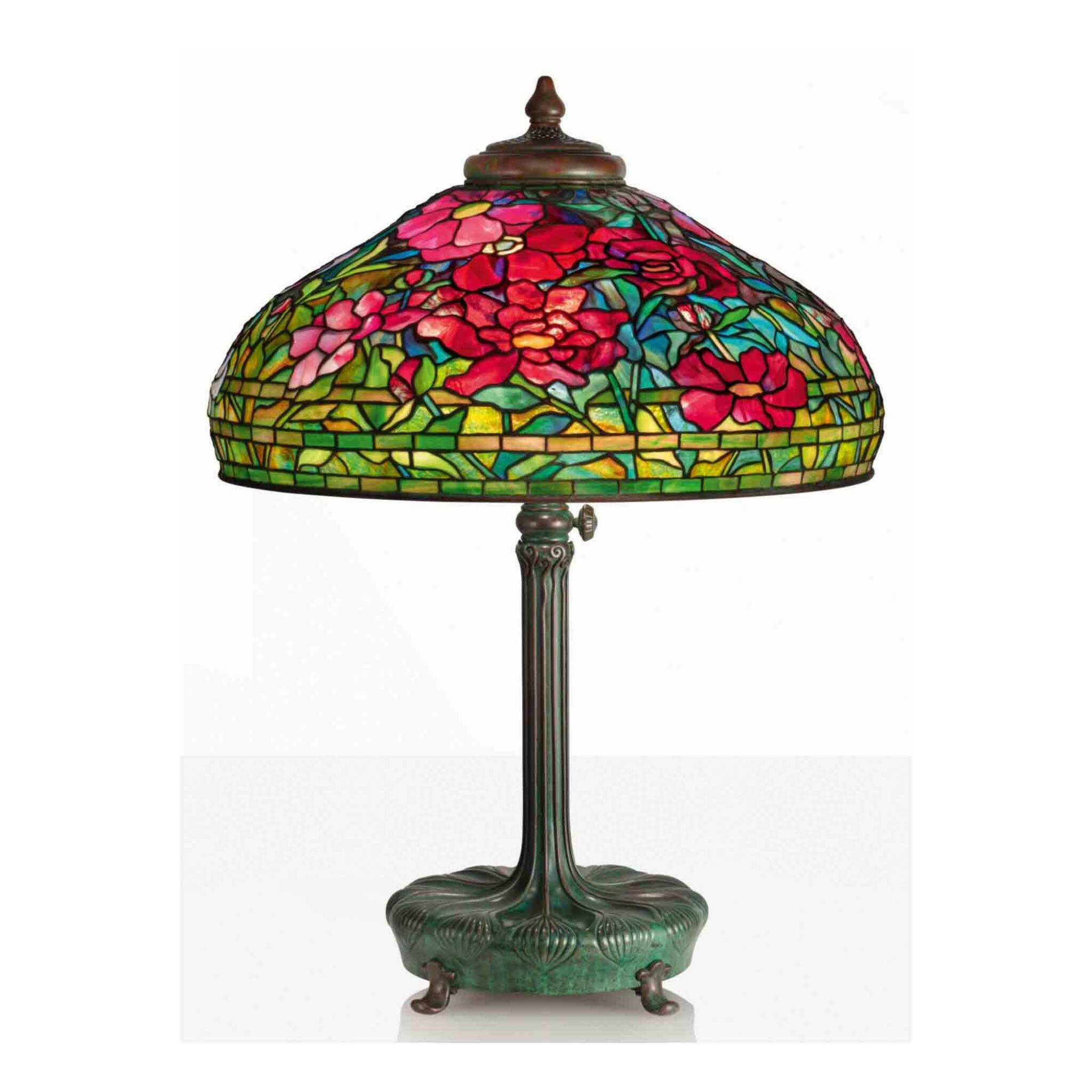"""View full screen - View 1 of Lot 8. """"Peony"""" Table Lamp."""