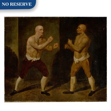 View 1. Thumbnail of Lot 120. The set-to: the match between John Broughton and George Stevenson, 1741.