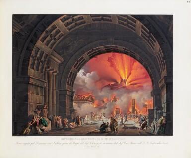 View 1. Thumbnail of Lot 123. Raccolta di varie decorazioni [per la] Scala (c.1830). Reliure romantique attribuable à Thouvenin.