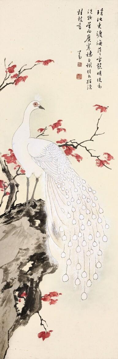View 1. Thumbnail of Lot 3119. PU RU 溥儒 | WHITE PEACOCK 白孔雀.