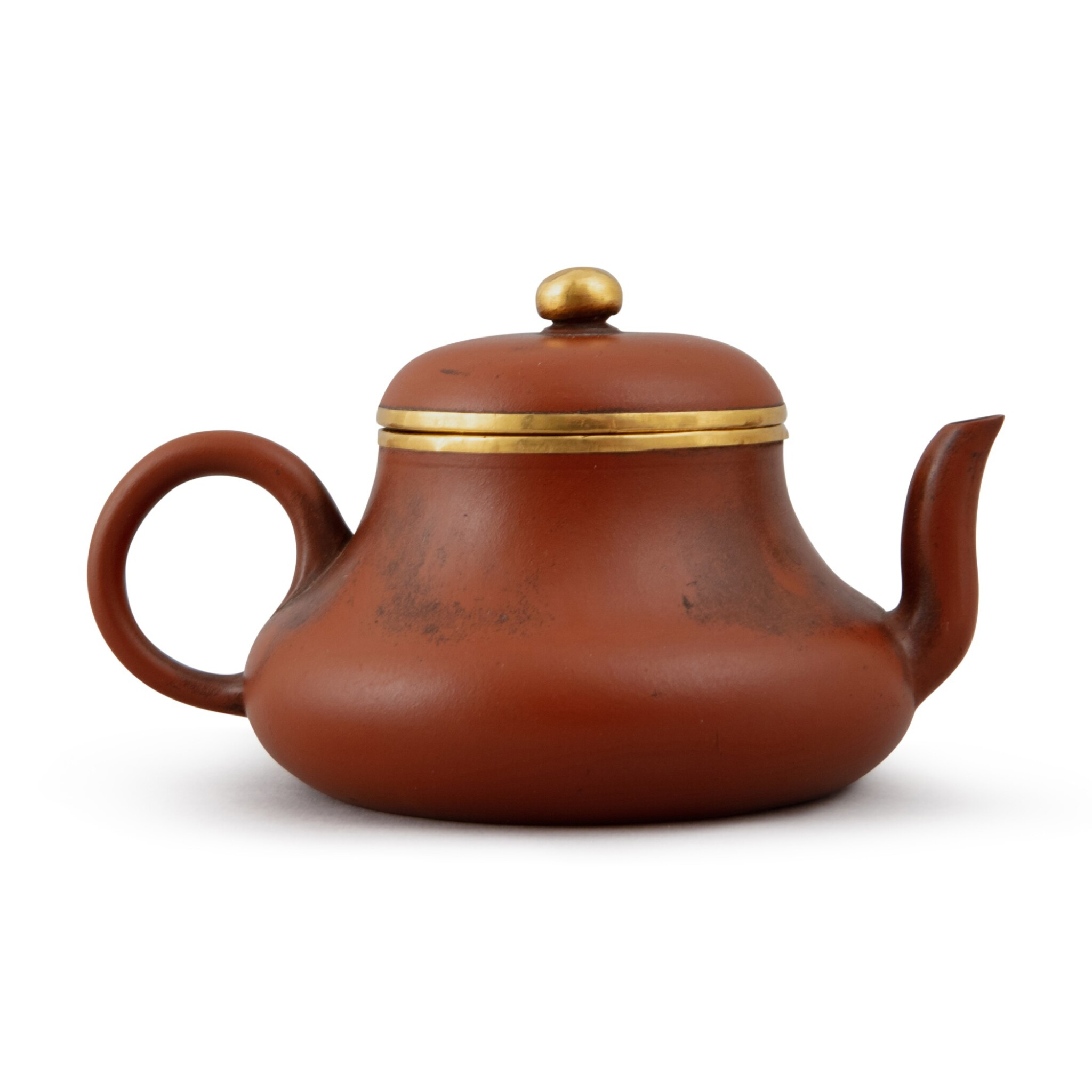 View full screen - View 1 of Lot 24. A Yixing teapot and cover, after Hui Mengchen, Late Qing dynasty.