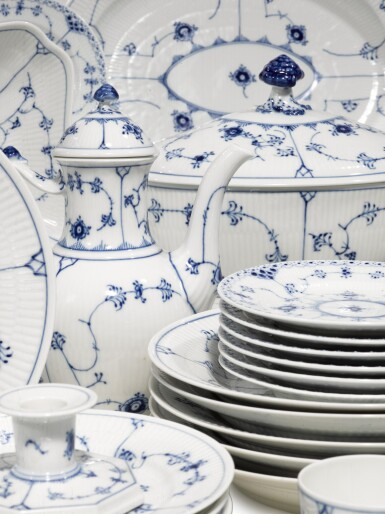 View 2. Thumbnail of Lot 22. A Royal Copenhagen 'Blue Lace' Dinner, Tea, and Coffee Service, Modern.