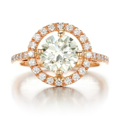View 1. Thumbnail of Lot 53. Diamond ring.