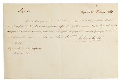 G. Garibaldi. Collection of nine letters signed, Caprera, 1862-1875