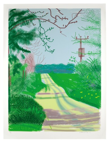 View 1. Thumbnail of Lot 57. DAVID HOCKNEY | THE ARRIVAL OF SPRING IN WOLDGATE, EAST YORKSHIRE IN 2011 - 23 APRIL 2011.
