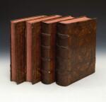 Thomas Aquinas, Opera, Lyon, 1581, 4 volumes, contemporary Spanish plateresque calf