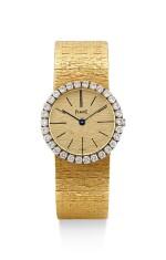 PIAGET | REFERENCE 9190A6, A YELLOW GOLD AND DIAMOND-SET BRACELET WATCH, CIRCA 1975