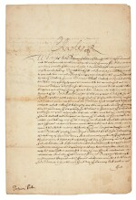 CHARLES II | document signed, 1672