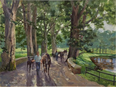 View 1. Thumbnail of Lot 25.  PETER WILLIAMS | LEADING IN THE MARES & FOALS AT GILLTOWN STUD, IRELAND.