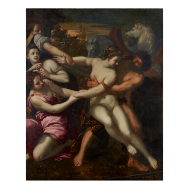 View 1. Thumbnail of Lot 146. IPPOLITO SCARSELLA, CALLED SCARSELLINO | ABDUCTION OF PERSEPHONE.