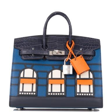 Hermès Bleu Sac Birkin Faubourg 20cm