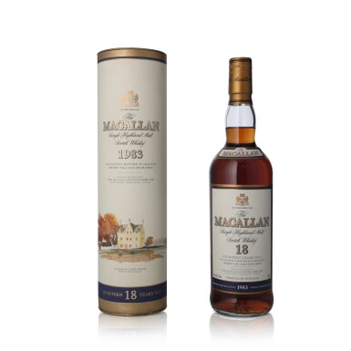 View 1. Thumbnail of Lot 21. The Macallan 18 Year Old 43.0 abv 1983 (1 BT75).