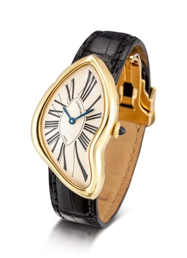 View 2. Thumbnail of Lot 8002. Cartier   Crash, A yellow gold wristwatch, Circa 1991   卡地亞   Crash 黃金腕錶,約1991年製.
