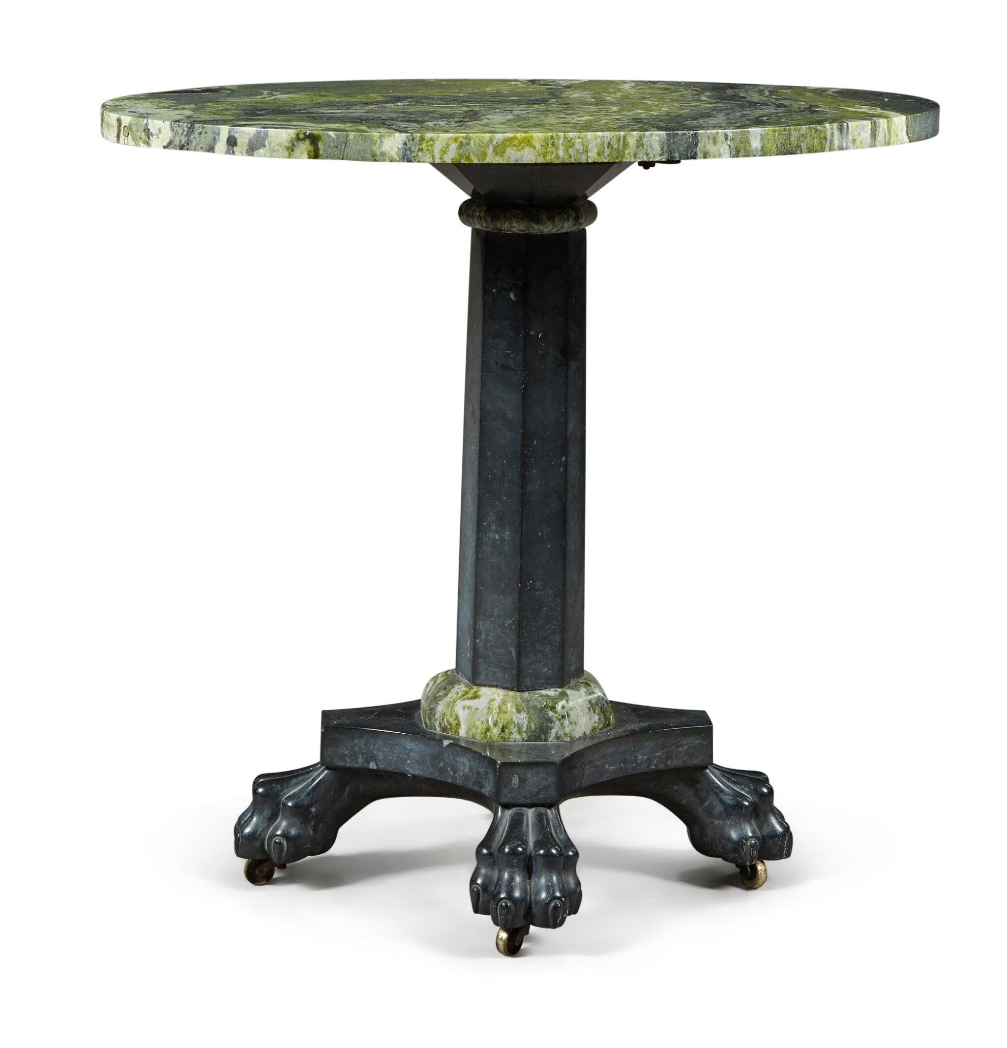 View full screen - View 1 of Lot 46. A WILLIAM IV IRISH CONNEMARA AND KILKENNY MARBLE TABLE , CIRCA 1830.