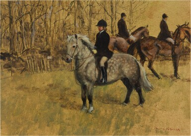 View 1. Thumbnail of Lot 21. HENRY KOEHLER    THE HUNTING PONY.