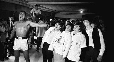 View full screen - View 1 of Lot 223. CHRIS SMITH | ALI AND THE BEATLES, 1964.