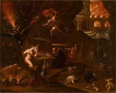 View 1. Thumbnail of Lot 130. The Temptation of Saint Anthony.