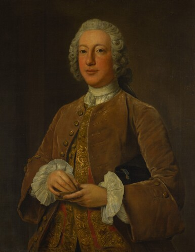 View 2. Thumbnail of Lot 53. STEPHEN SLAUGHTER | PORTRAIT OF WILLIAM GRAHAM OF PLATTEN HALL, COUNTY MEATH, THREE-QUARTER-LENGTH, HOLDING A SNUFF BOX.