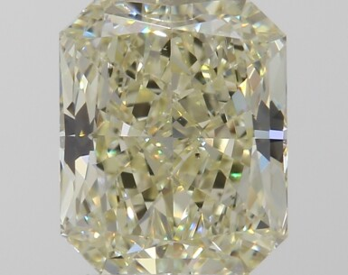 A 1.11 Carat Cut-Cornered Rectangular Modified Brilliant-Cut Diamond, U-V Color, VS2 Clarity