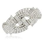 Diamond double-clip brooch, 1930s