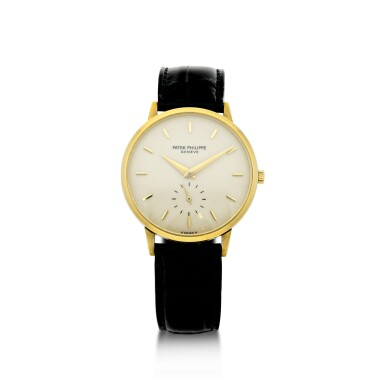View 1. Thumbnail of Lot 156. PATEK PHILIPPE | REFERENCE 3893  A YELLOW GOLD WRISTWATCH, MADE IN 1981.