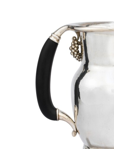 View 3. Thumbnail of Lot 40. A DANISH SILVER WATER-JUG, JENSEN, COPENHAGEN, AFTER 1945 | POT À EAU EN ARGENT PAR JENSEN, COPENHAGUE, APRÈS 1945 .