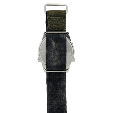 """View 4. Thumbnail of Lot 82. [STS-41-G and STS-31] Kathy Sullivan's Twice Flown Seiko — The """"Most Vertical Watch""""."""