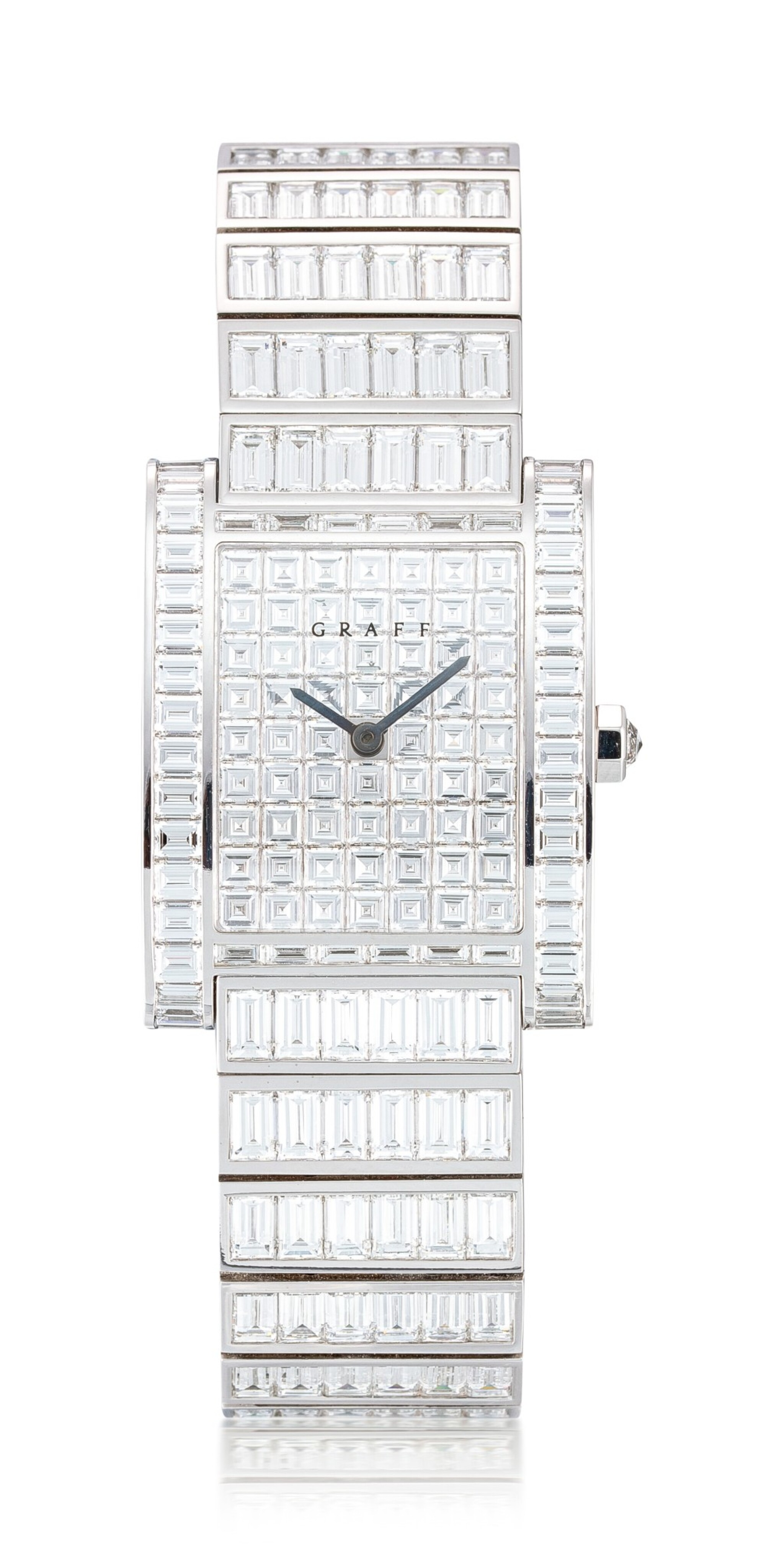 View full screen - View 1 of Lot 1043. Reference WT4787 Exceptional White Gold and Baguette Diamond-Set Wristwatch | 格拉夫| 編號REF WT4787,超凡白金鑲方形鑽石腕表,約2010年製.