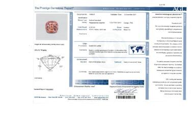 View 4. Thumbnail of Lot 191. Padparadscha Sapphire and Diamond Ring [橙粉紅色剛玉配鑽石戒指].