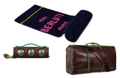 Berluti   Beach Towel, Petanque Set and Weekend Bag (Serviette de Plage, Set de Pétanque et Sac de Voyage ) [3 Items / Articles]