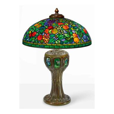 """View 1. Thumbnail of Lot 14. A Rare """"Fruit"""" Table Lamp."""