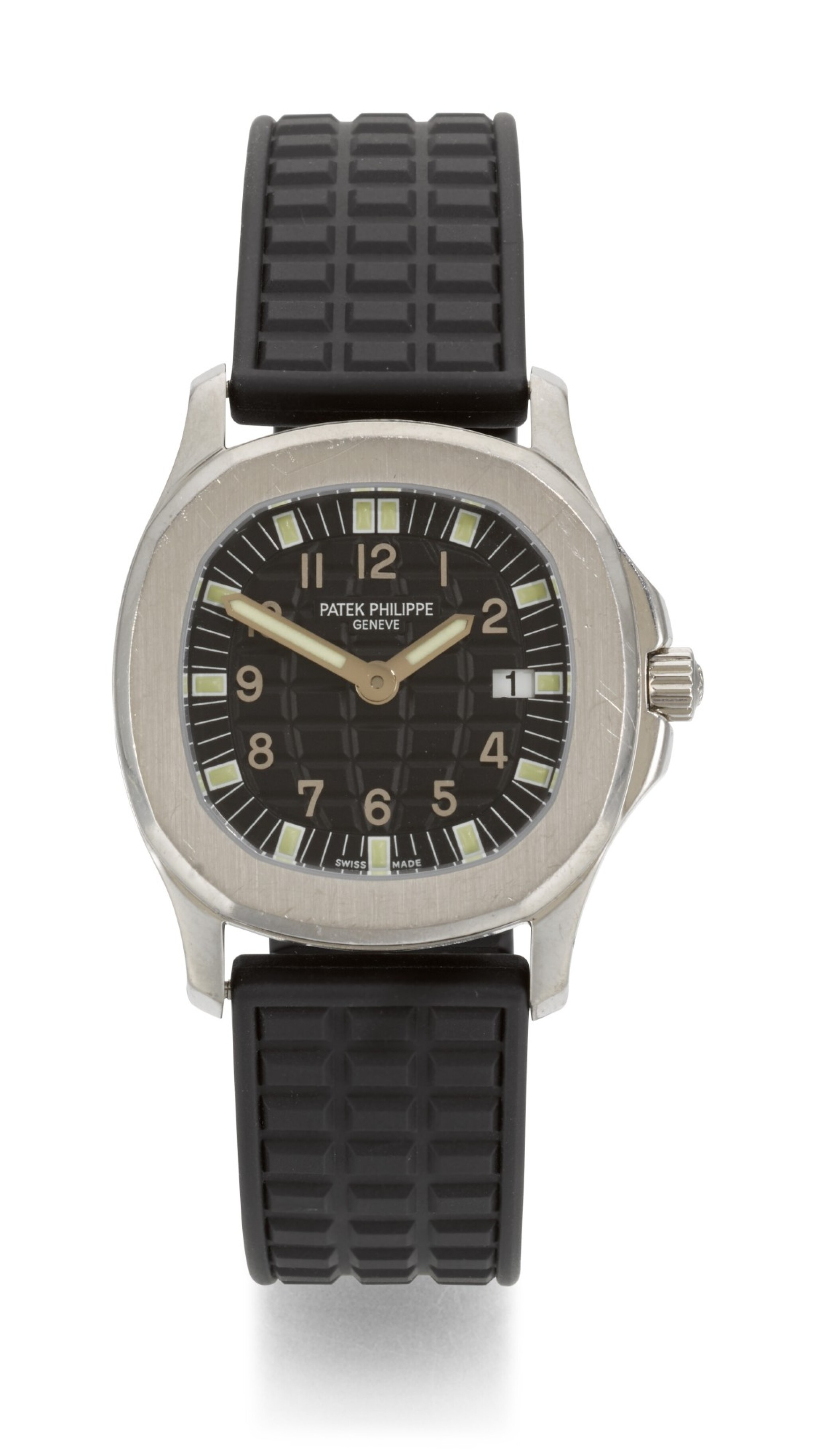 View full screen - View 1 of Lot 22. PATEK PHILIPPE | AQUANAUT, REFERENCE 4960, STAINLESS STEEL WRISTWATCH WITH DATE, MADE IN 2000.